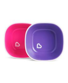 Набор тарелок Munchkin Splash Pink&Purple 2 шт