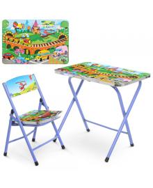 Детский столик A19-TC, транспорт, со стульчиком