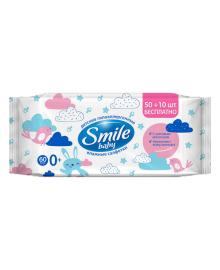 Влажные салфетки Smile Baby с рисовым молочком 60 шт