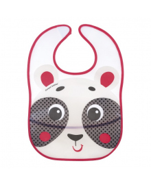 Нагрудник пластмассовый Canpol babies Hello Little Panda