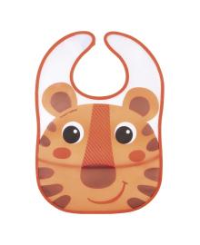 Нагрудник пластмассовый Canpol babies Hello Little Tiger