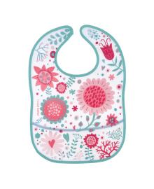 Нагрудник пластмассовый Canpol babies Wild Nature Pink Flowers