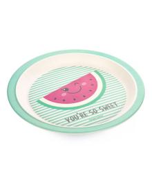 Тарелка бамбуковая Canpol babies So cool Watermelon 9/211_pin, 5903407092119