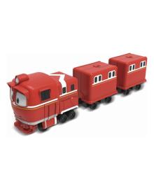 Игровой набор Robot Trains Паровозик с двумя вагонами Альф