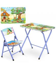 Детский столик A19-HOME, домик, со стульчиком