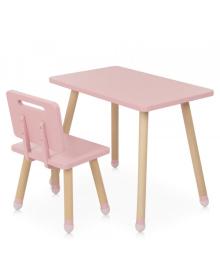 Детский столик BAMBI M 4256 Square pink со стульчиком