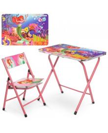 Детский столик A19-MERM со стульчиком, Русалочка
