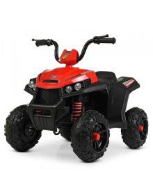Детский квадроцикл BAMBI M 4131 EL-3, кожаное сиденье, красный
