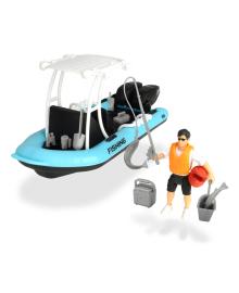 Игровой набор Dickie Toys Playlife Рибацкая лодка