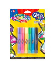 Краски витражные Colorino в блистере 6 шт 68918PTR, 5907690868918