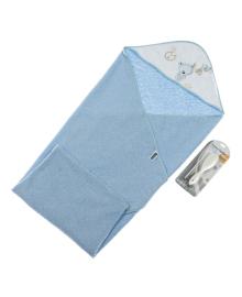 Полотенце и набор расчесок Interbaby Teddy Blue 100х100 см