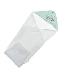 Полотенце Interbaby Tipi Oso Mint 100х100 см