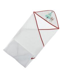 Полотенце Interbaby Tipi Oso White Red 100х100 см