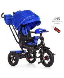 Трехколесный велосипед Turbo Trike M 4060-10, надувные колеса, синий индиго TURBOTRIKE