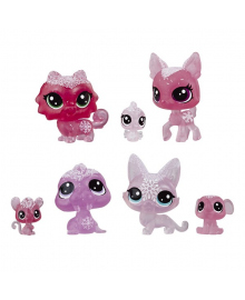 Набор фигурок Littlest Pet Shop Холодное царство 7 шт Pink