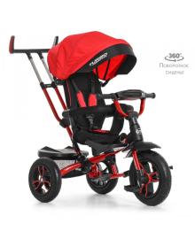 Детский трехколесный велосипед Turbo Trike M 4058-1, надувные колеса, красный TURBOTRIKE