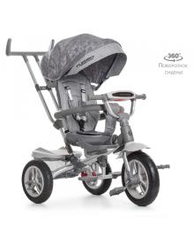 Детский трехколесный велосипед Turbo Trike M 4058-19, надувные колеса, серый TURBOTRIKE