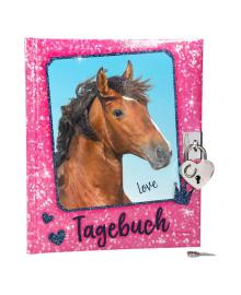 Дневник для записей Horses Dreams розовый