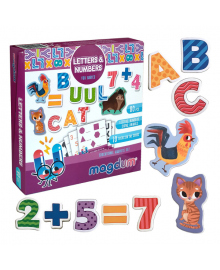 Набор магнитов Magdum Буквы и цифры