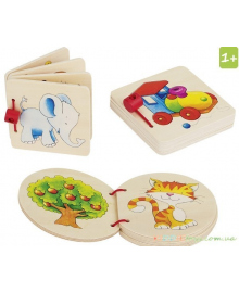 Книжка игрушка с картинками Goki 58604