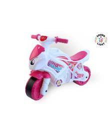 """Мотоцикл 6368 """"ТЕХНОК"""" Бело - розовый 77017"""