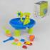 Столик для песка и воды 103 (12) с аксессуарами, с кинетическим песком, в коробке
