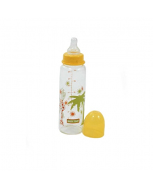Бутылочка стеклянная для кормления, 250 мл Baby team 1201