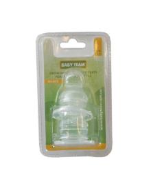 Соска силиконовая ортодонтическая (большой размер), 2 шт. Baby team 2003