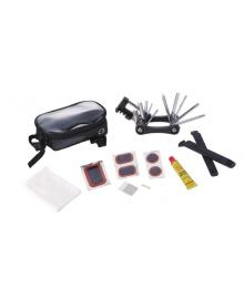 Велосумка на раму, под смартфон, с инструмент. (мультит, лопатки, латки, клей) KL-9812C (BIB-013)