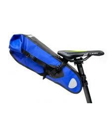 "Велосумка ""байкпакинг"" под седло 62x14x14cm черно-синий BRAVVOS A2-402 водоотталк. материал (BIB-039)"