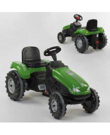 Трактор педальный 07-321 GREN (1) клаксон на руле, сидение регулируемое, колеса с резиновыми накладками, в коробке