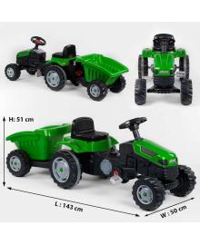 Трактор педальный с прицепом 07-316 GREEN Зеленый 77288