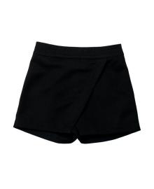 Шорты-юбка черного цвета Mevis 1612-02