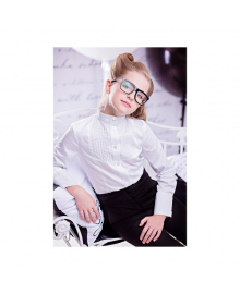 Классическая демисезонная блуза белого цвета Zironka 3500-1