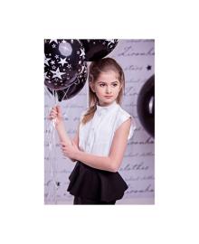 Элегантная блуза с короткими «рукавами-крылышками» Zironka 3577-1