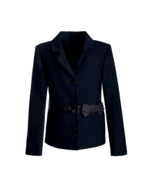 Классический жакет синего цвета, украшенный бантом Zironka 9510-2
