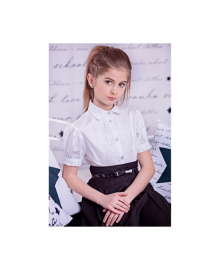Белая блуза с короткими рукавами Zironka 3602-1