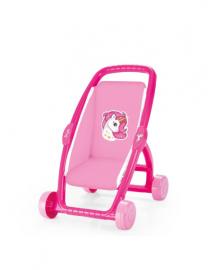 Коляска для куклы DOLU розовая (2559)