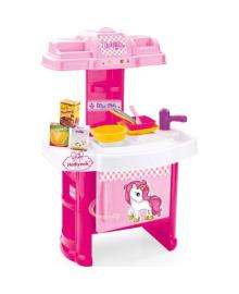 Детская игровая кухня DOLU розовая (2516)