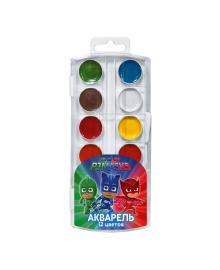 Краски акварельные PJ Masks Герои в масках 12 цветов 120464, 4820171712702