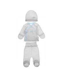 Комплект Фламинго Mommy's Little Hero серо-голубой 699-1022