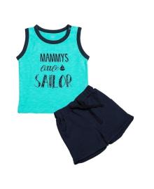 Комплект Фламинго Sailor бирюзовый/темно-синий 601-129