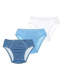 Набор трусов BluKids Bio Cotton White&Blue 3 шт 5488678