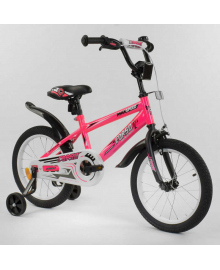 """Велосипед 16"""" дюймов 2-х колёсный """"CORSO"""" EX-16 N 9164 РОЗОВЫЙ 87987"""