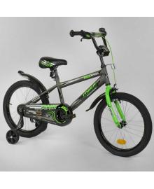 """Велосипед 18"""" дюймов 2-х колёсный """"CORSO"""" EX-18 N 3305 СЕРЫЙ 88173"""