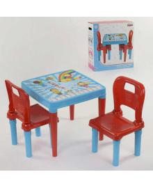 Стол с двумя стульчиками 03-414 (4) ЦВЕТ ГОЛУБОЙ PILSAN Igr-88333