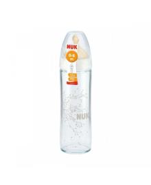 Стеклянная бутылочка New Class First Choice с соской из латекса, 1 размер NUK 10745079, 4008600223818