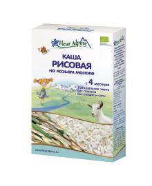 Каша на основе козьего молока Fleur Alpine Organic&Rice 200 г