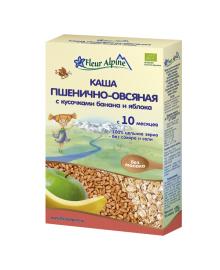 Каша органическая Fleur Alpine Пшенично-овсяная с бананом и яблоком 175 г