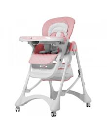 Детский стульчик для кормления Carrello Caramel (Каррелло Карамель) CRL-9501/3 Candy Pink (6900095000197) Цвет Розовый